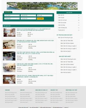 Mẫu giao diện website bất động sản 001