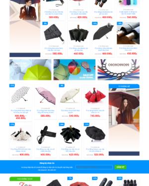 Thiết kế Mẫu website áo mưa ô dù