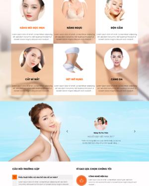 Mẫu giao diện website làm đẹp 001