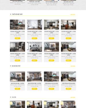 Mẫu giao diện website nội thất 001