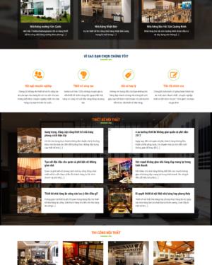 Mẫu giao diện website nội thất 002