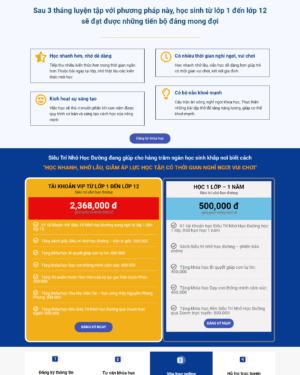 Mẫu giao diện website giáo dục Siêu Trí Nhớ Học Đường 002