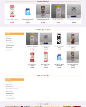 Mẫu giao diện website bán bánh bh005