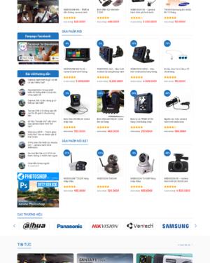 Mẫu giao diện website camera BH006