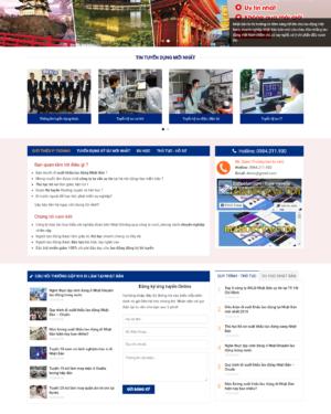 Mẫu giao diện website xuất khẩu lao động CT002