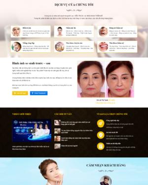 Mẫu giao diện website làm đẹp chăm sóc răng LD002