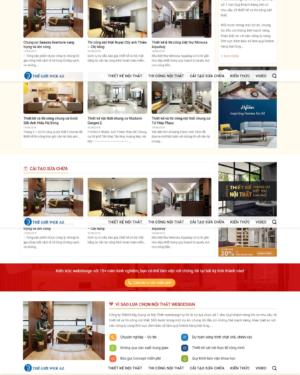 Mẫu giao diện website nội thất 003